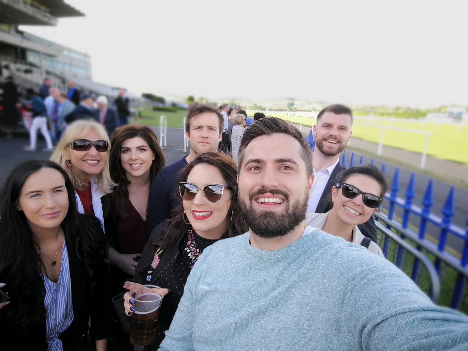 Group at the races