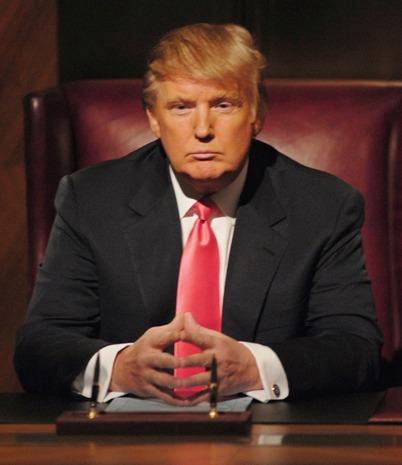 Donald Trump, steepled hands